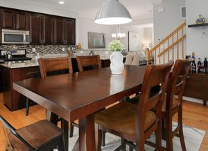 5 Piece Dining Room Set Counter Height Wood for Sale in Clarksburg, MD
