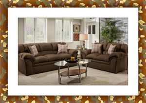 Chocolate sofa and love seat brand new free shipping for Sale in Fairfax, VA