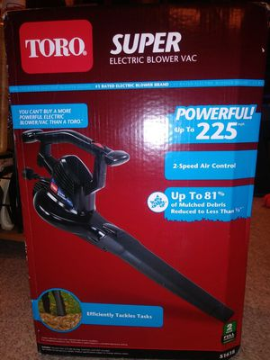 Brand new items for sale. Toro 2 speed air control super electric blower vac and Homelite 14 inch chain saw. for Sale in Gaithersburg, MD