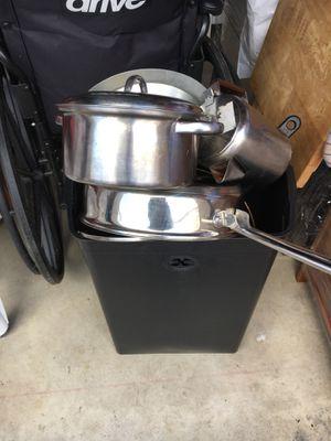 Pots & Pans & Trash Bin for Sale in Arlington, VA