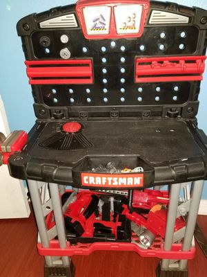 Craftsman kids tool bench set with lots of tools to play with. for Sale in Eustis, FL