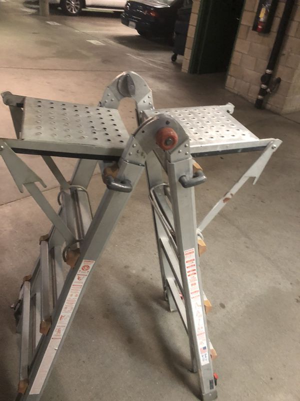 Little Giant Ladder With Leg Leveler And Platforms For Sale In