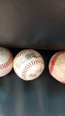 4 baseball balls Thumbnail