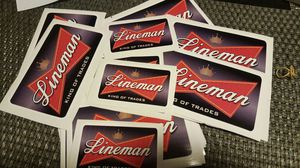 Lineman Budweiser sticker for Sale in West Covina, CA
