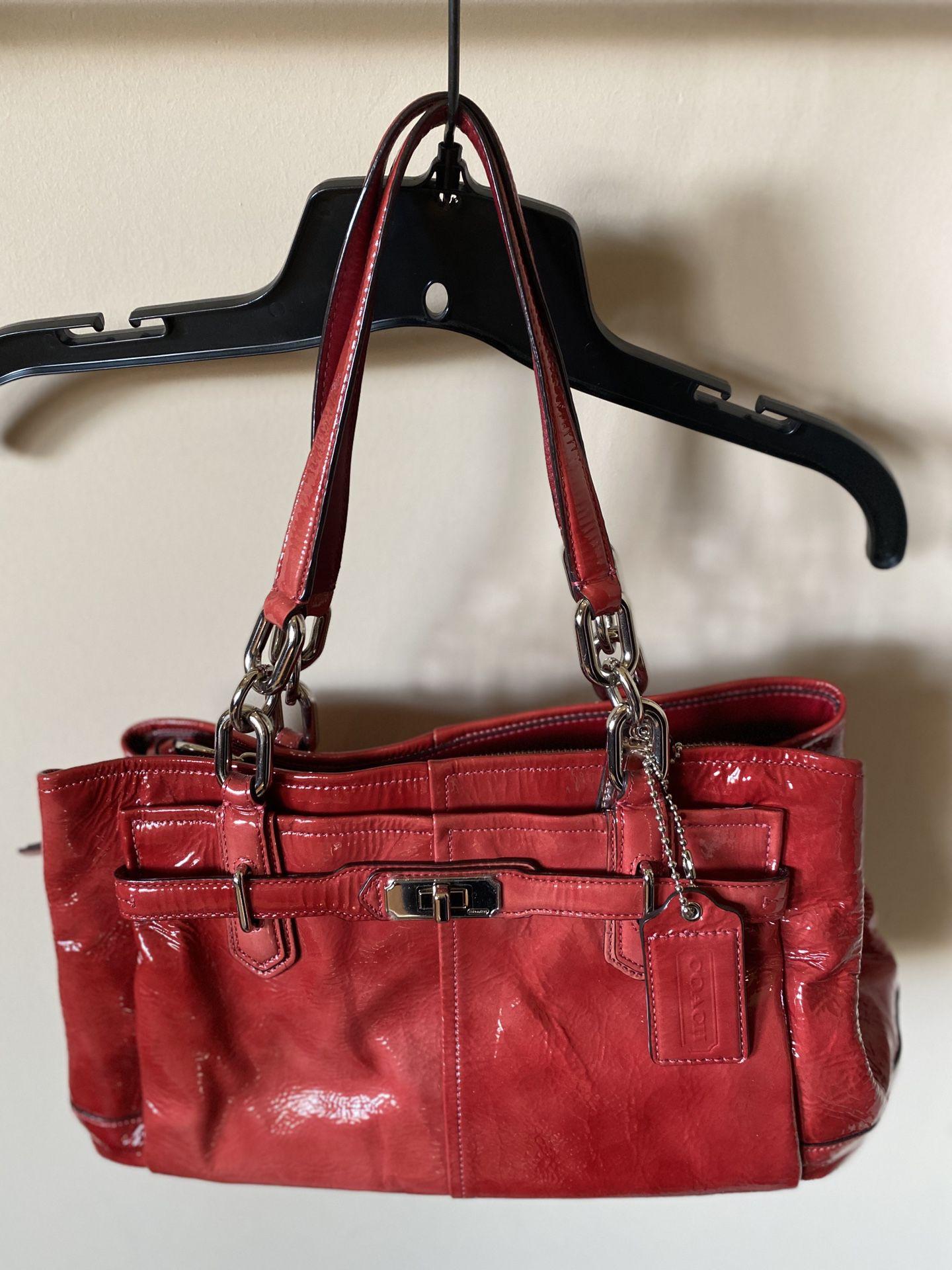 Coach Red Purse Handbag