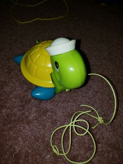 Vintage Fisher and Price pull turtle Thumbnail