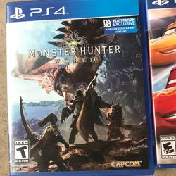 5 Pack Ps4 Games- Battlefront Deluxe Edition, Battlefront 2, Madden 18, Monster Hunter World, Cars 3 Driven 2 Win Thumbnail