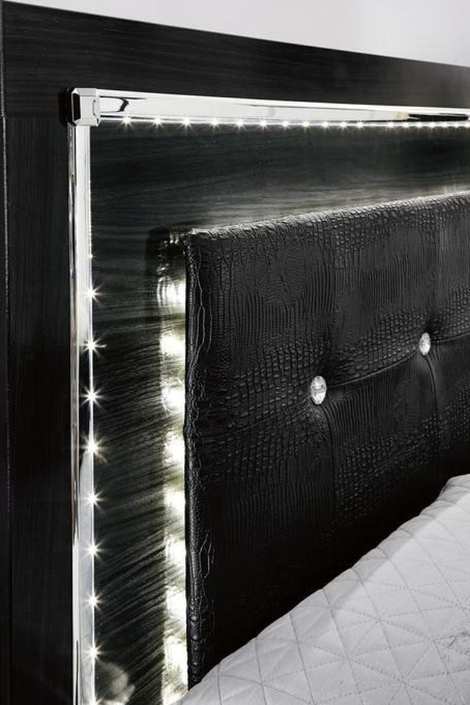 SPECIAL] Kaydell Black LED Storage Bedroom Set by Ashley🌾🌾Same Day Delivery 👍On Display