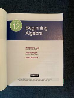 Beginning Algebra Thumbnail