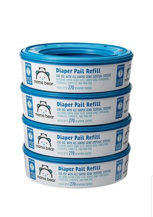 Photo Mama Bear 00842379101182 Diaper Pail Refills for Diaper Genie Pails, 1080 Count (Pack of 4)