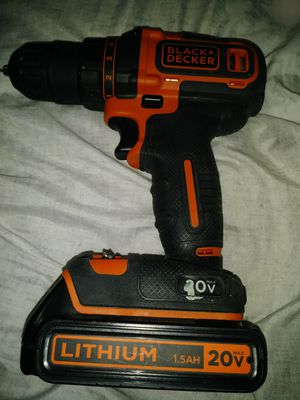 Bllack and decker battery powered drill works perfect lithium 1.5 AH, 20V. Hablo español for Sale in Laveen Village, AZ