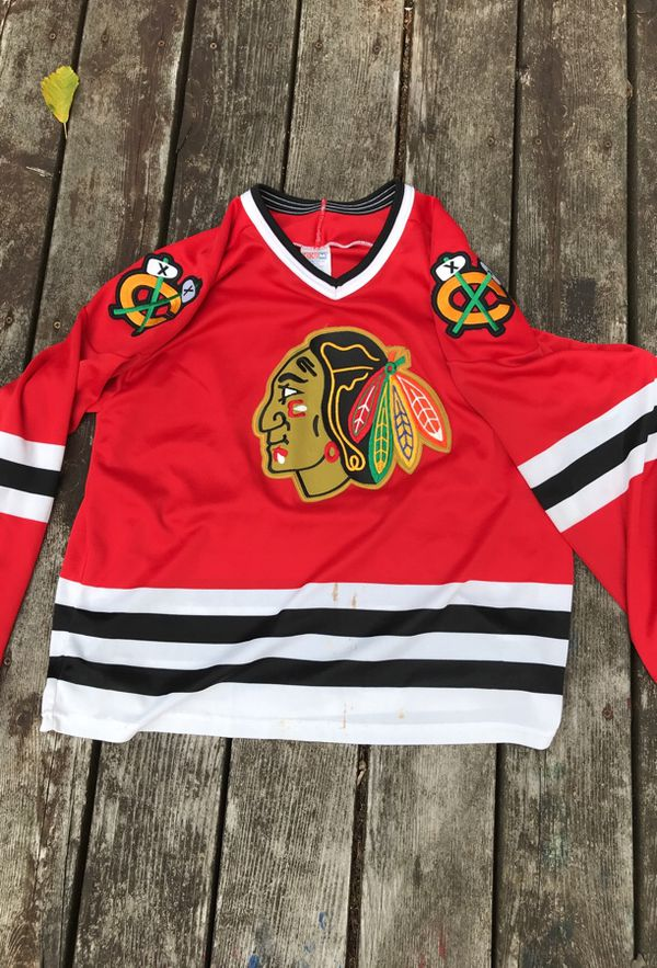 f6628441005 Vintage Chicago Blackhawks jersey large CCM made in USA 1990s for ...