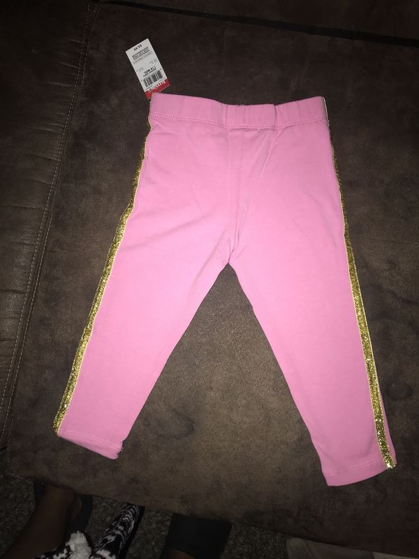 0ab56db4d4c4 Brand new pink and gold trim leggings size 18 Months for Sale in ...