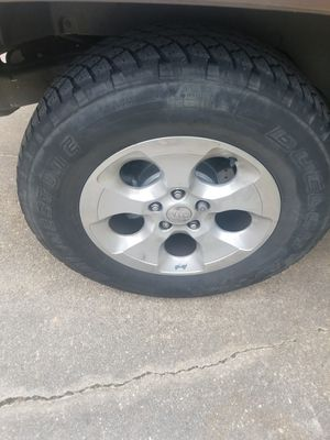 5 18's jeep rims and tires for Sale in Severn, MD