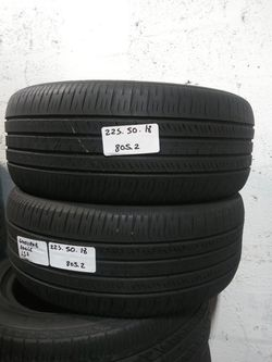 225/50R18 GOODYEAR EAGLE LS2 GRAND TOURING 95H 225 50 18 USED PAIR Thumbnail