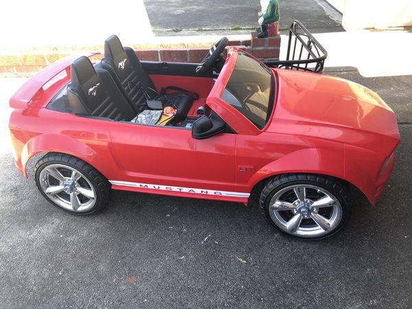 Lightly Used Red Convertible Mustang Wheels