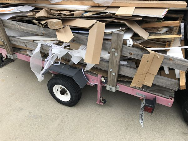 Free Cardboard And Wood Trailer Not Included For Sale In
