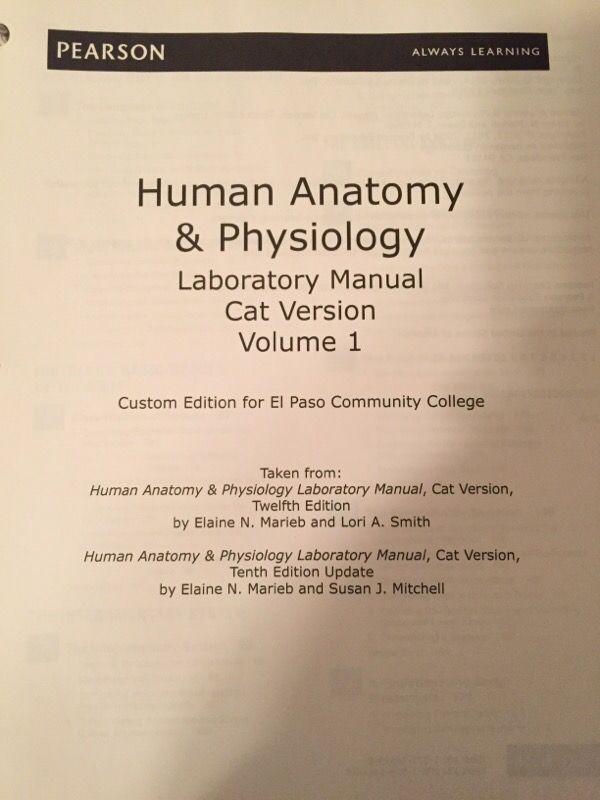 EPCC: Human Anatomy & Physiology Laboratory Manual Volume 1 CAT ...