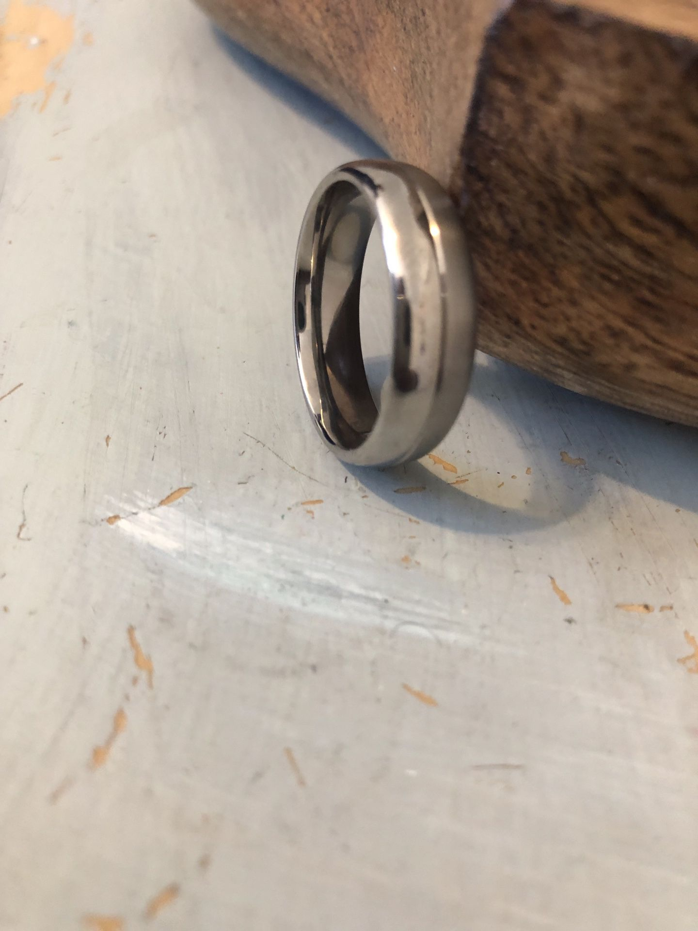 Titanium white gold ring. Size 12