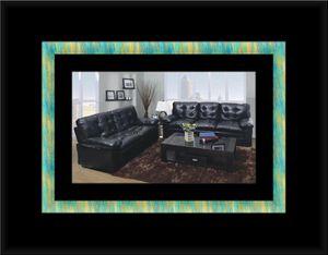 U6900 black bonded leather sofa and loveseat for Sale in Fairfax, VA