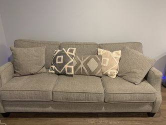 """Tan couch Almost New 86"""" Thumbnail"""
