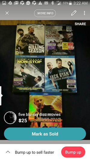 Assorted Blu-ray movies for Sale in Pittsburgh, PA