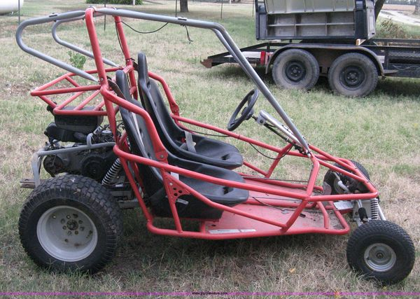 Nice 2 seater go kart just replaced motor with an 255 cc power horse motor  and it comes with s extended 2 yr warranty so blow it up and it's free to