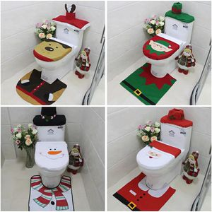 3Pcs/set Christmas Santa Toilet Seat Cover Anti-Slip Bathroom Mat Toliet Rug Christmas Decoration for Home New Year Mat for Sale in Bethesda, MD
