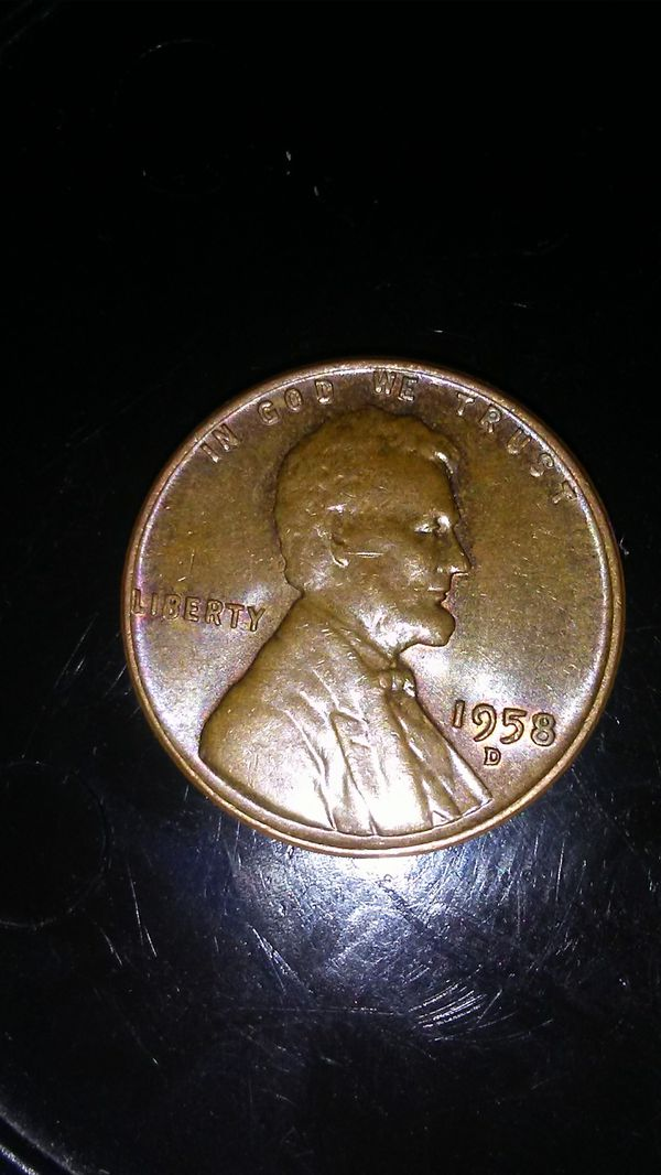 1958 D Wheat Penny Silver