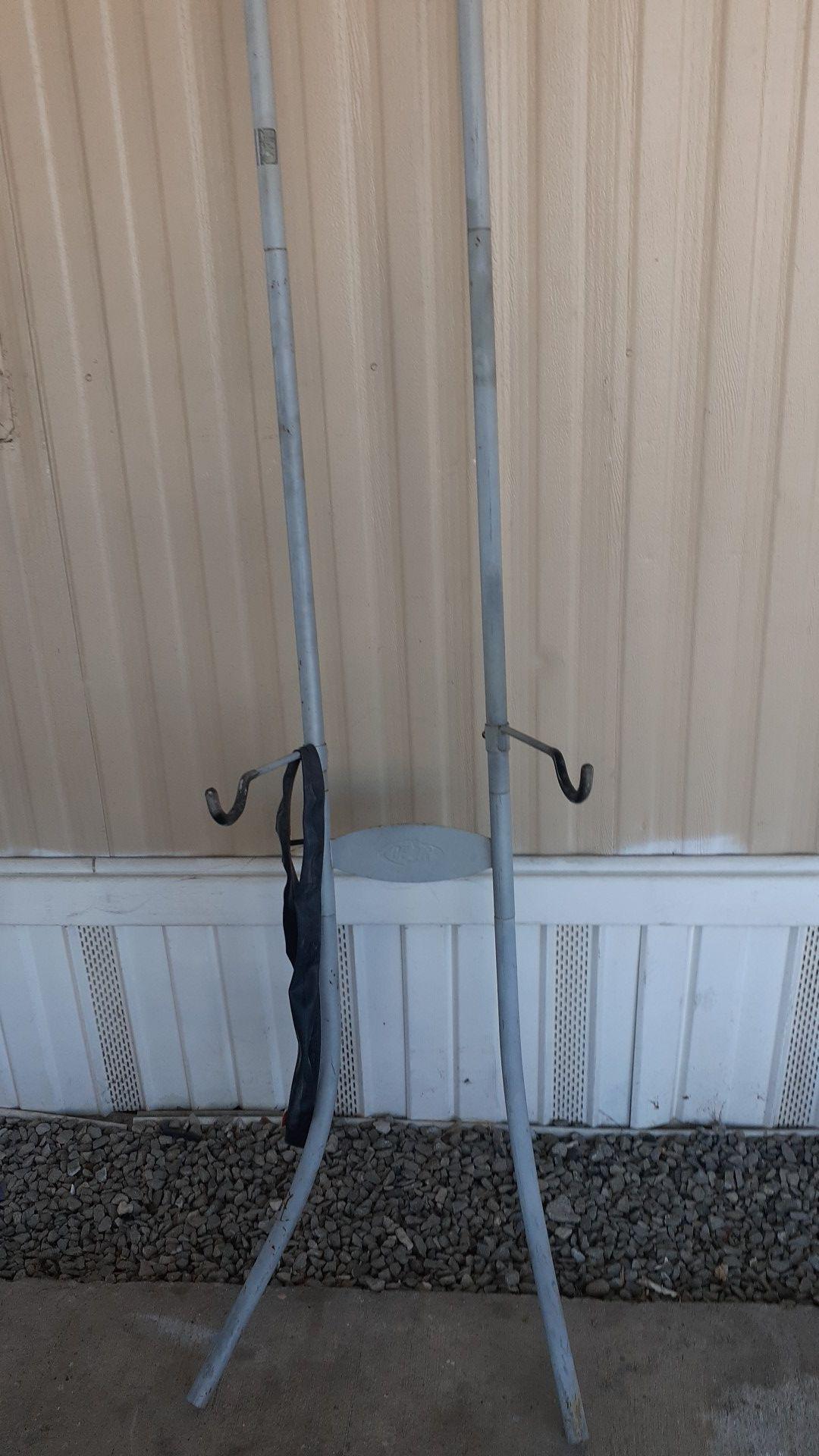 Delta double bike rack