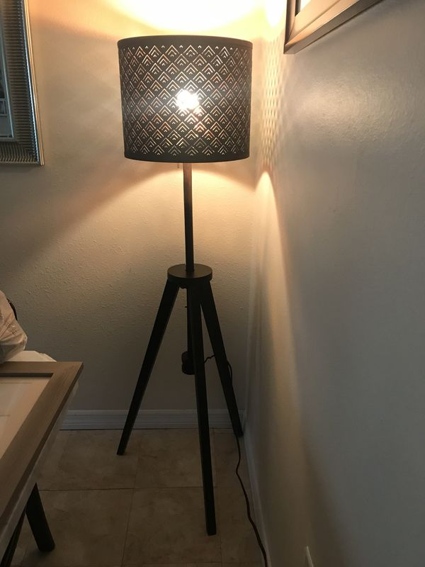quality design 4317c 33bf4 Ikea 'Lauters' Tripod Floor Lamp with Medium Ikea 'Nymo' Shade for Sale in  Palm Harbor, FL - OfferUp