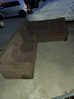 Selling Sectional Sofas In Good Condition  Color Brown For $350 Thumbnail