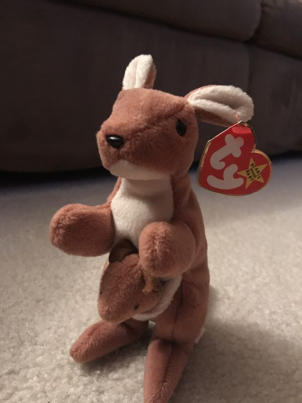 "83c4a4ebd28 Rare Ty Beanie Babies ""Pouch"" style 4161 Mint Condition with Tag Date of  Birth 11-6-1996"