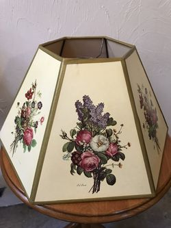 Pair of floral lamp shades by J L Prevost Thumbnail