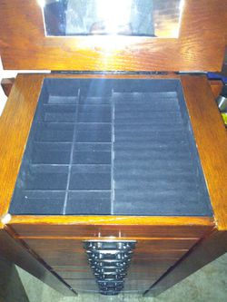 Solid hardwood jewelry cabinet Thumbnail