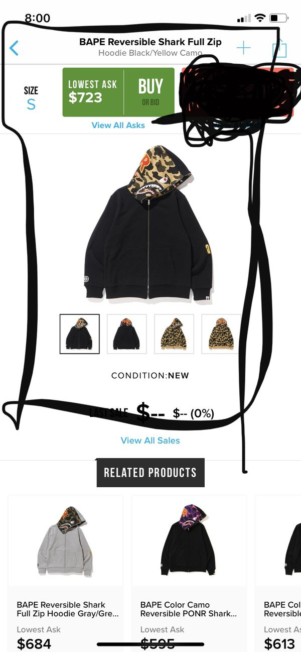 New and Used Bape hoodie for Sale in Pomona, CA OfferUp
