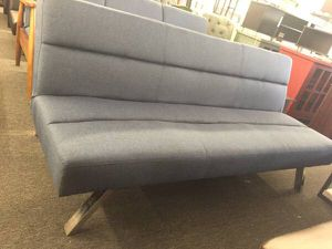 Deluxe Futon With Memory Foam Blue Linen 159 Houston For In