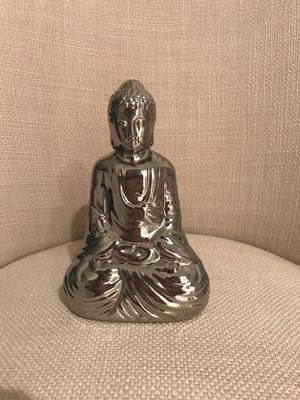 Pretty silver metal Buddha. Nice in any room and on any desk or table. for Sale in Pembroke Pines, FL