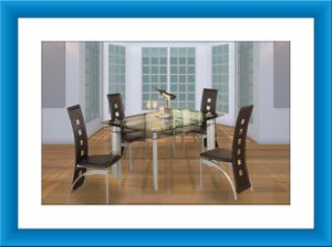 Glass table with 4 chairs free shipping for Sale in Fairfax, VA