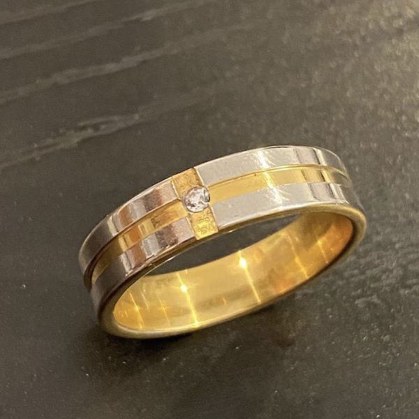 Unisex 18K Gold plated Ring - Code A57