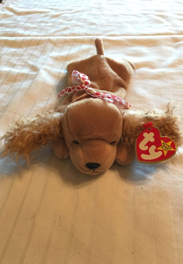 885d4276334 Ty beanie babies spunky the dog with errors. for Sale in San Jose