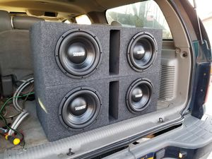 Photo 2 pairs of 4 10 Sundown audio Subs must hear insane bass