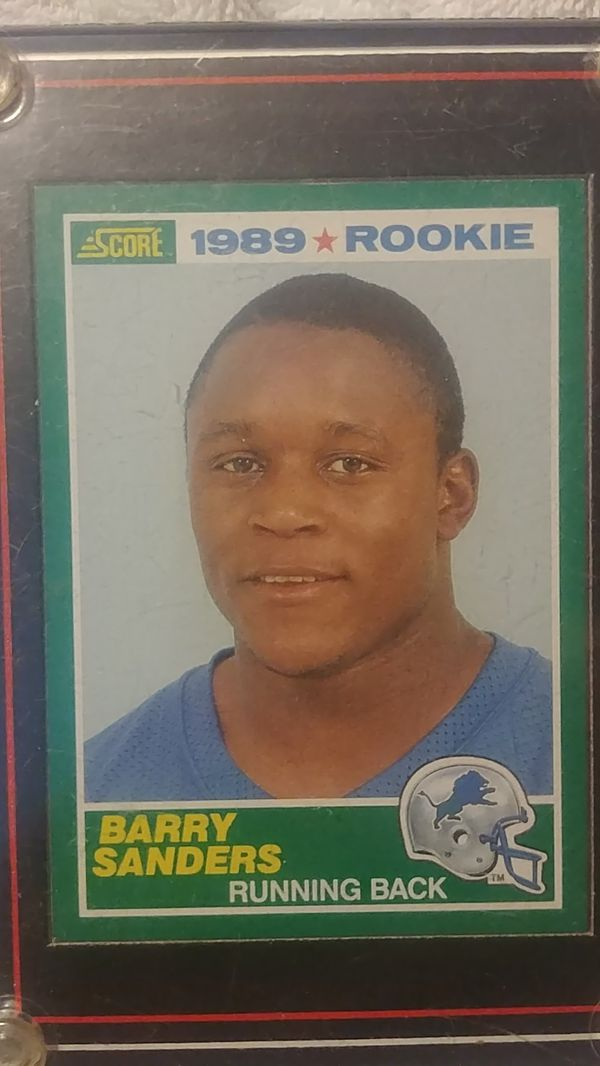 Barry Sanders Rookie Card For Sale In Willis Tx Offerup