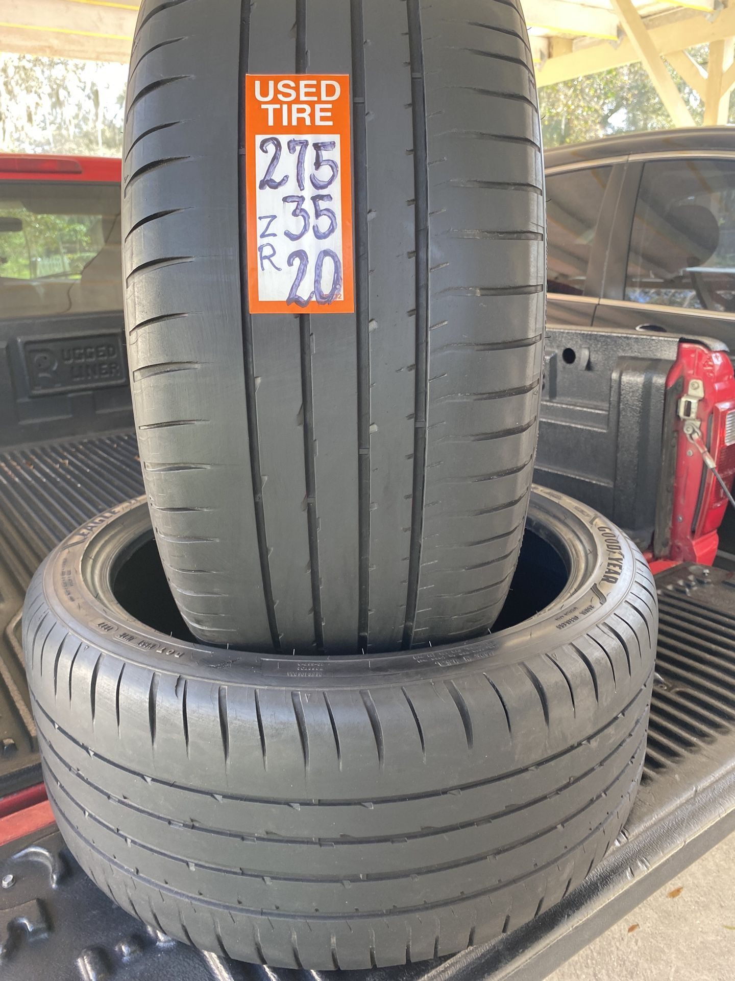275-35-ZR20 2tires Goodyear F1 Asimetric Run Flat 70% Life Not Repairs Fresh