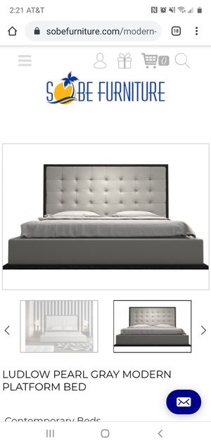 Photo King Platform Bed - Sobe Furniture