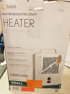 Utility heater 1300/1500watts for Sale in Monrovia, MD