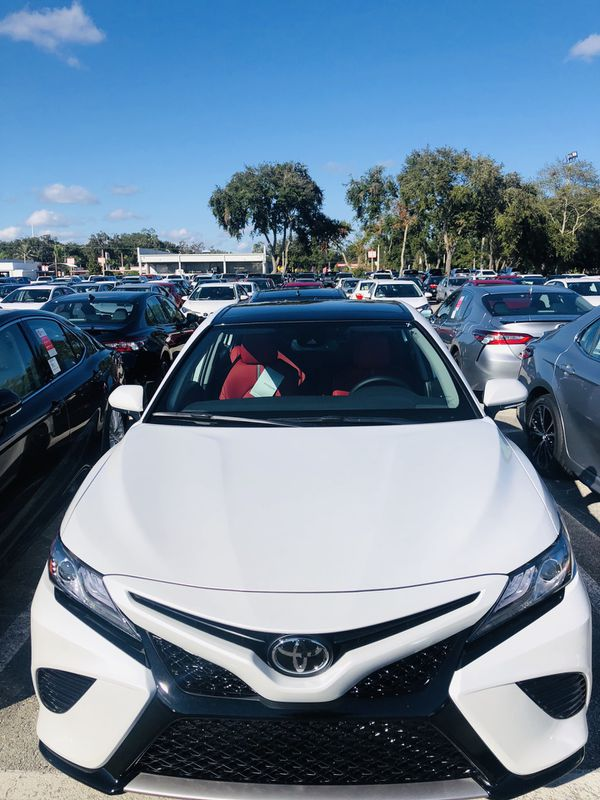 Toyota Camry With Red Interior
