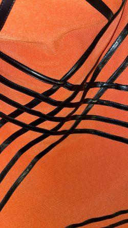 Orange Striped Club Dress Thumbnail