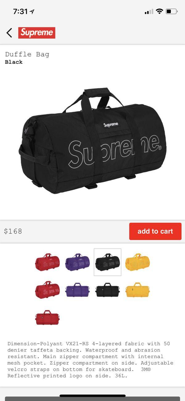 ed01b8442355 Supreme Duffle Bag FW18 brand new for Sale in Las Vegas