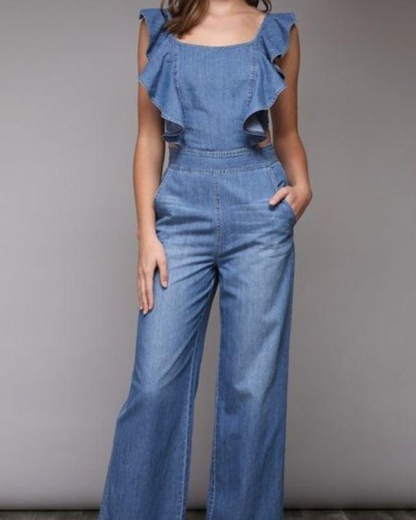 e0722dcab16 Ocean Blue Denim Jumpsuit for Sale in Miami